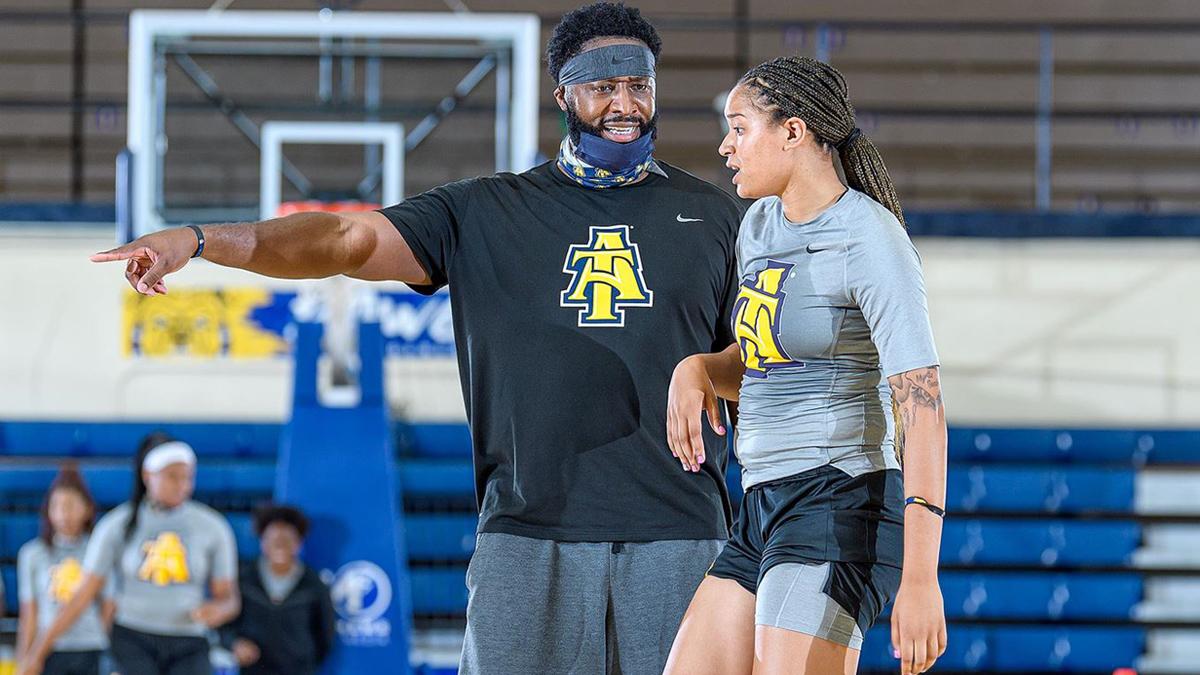 North Carolina A&T coach Tarell Robinson
